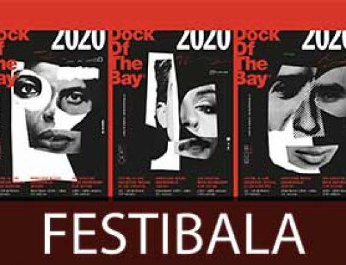 Musikaren ikonoen erretratu abstraktuak, Dock of the Bay jaialdiaren kartelean