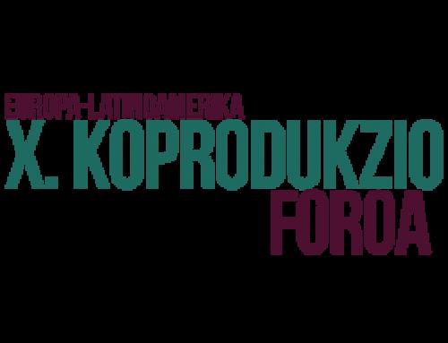 Zabalik da Europa-Latinoamerika Koprodukzio Forora aurkezteko deialdia